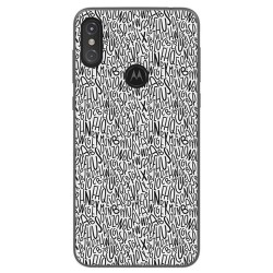 Funda Gel Tpu para Motorola One Diseño Letras Dibujos