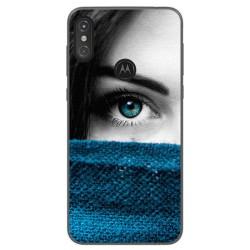 Funda Gel Tpu para Motorola One Diseño Ojo Dibujos
