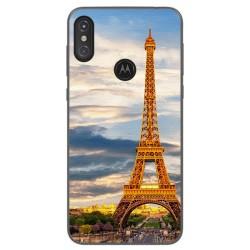 Funda Gel Tpu para Motorola One Diseño Paris Dibujos