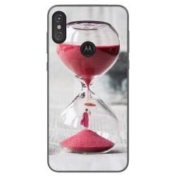 Funda Gel Tpu para Motorola One Diseño Reloj Dibujos