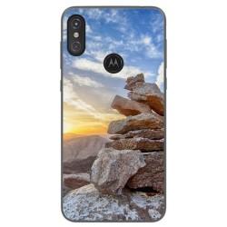 Funda Gel Tpu para Motorola One Diseño Sunset Dibujos