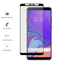 Protector Cristal Templado Frontal Completo Negro para Samsung Galaxy A9 (2018) Vidrio