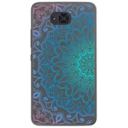 Funda Gel Transparente para Bq Aquaris U2 / U2 Lite Diseño Mandala Dibujos