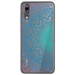 Funda Gel Transparente para Huawei P20 Diseño Mandala Dibujos