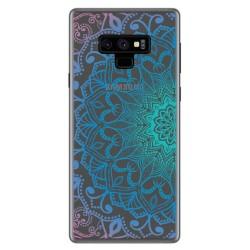 Funda Gel Transparente para Samsung Galaxy Note 9 Diseño Mandala Dibujos