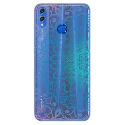 Funda Gel Transparente para Huawei Honor 8X Diseño Mandala Dibujos