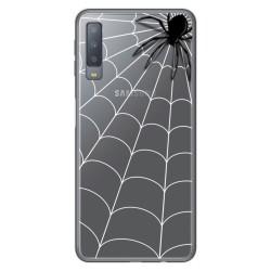 Funda Gel Transparente para Samsung Galaxy A7 (2018) diseño Araña Dibujos