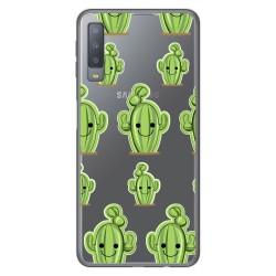 Funda Gel Transparente para Samsung Galaxy A7 (2018) diseño Cactus Dibujos