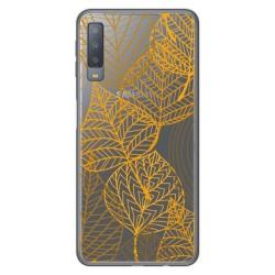 Funda Gel Transparente para Samsung Galaxy A7 (2018) diseño Hojas Dibujos