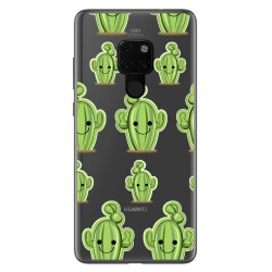 Funda Gel Transparente para Huawei Mate 20 Diseño Cactus Dibujos