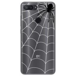 Funda Gel Transparente para Xiaomi Mi 8 Lite diseño Araña Dibujos
