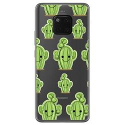 Funda Gel Transparente para Huawei Mate 20 Pro diseño Cactus Dibujos