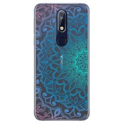 Funda Gel Transparente para Nokia 7.1 diseño Mandala Dibujos
