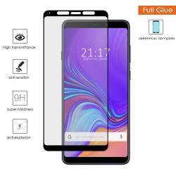 Protector Cristal Templado Completo Full Glue Negro para Samsung Galaxy A9 (2018) Vidrio