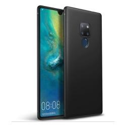 Funda Gel Tpu Tipo Mate Negra para Huawei Mate 20
