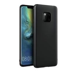 Funda Gel Tpu Tipo Mate Negra para Huawei Mate 20 Pro