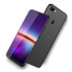 Funda Gel Tpu Tipo Mate Negra para Xiaomi Mi 8 Lite