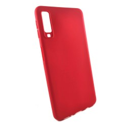 Funda Gel Tpu Tipo Mate Roja para Samsung Galaxy A7 (2018)