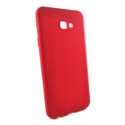 Funda Gel Tpu Tipo Mate Roja para Samsung Galaxy J4+ Plus