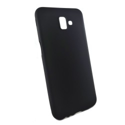 Funda Gel Tpu Tipo Mate Negra para Samsung Galaxy J6+ Plus