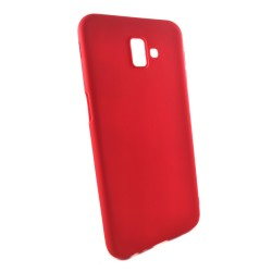 Funda Gel Tpu Tipo Mate Roja para Samsung Galaxy J6+ Plus
