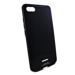 Funda Cristal Templado para Xiaomi Redmi 6a Color Negra Glass