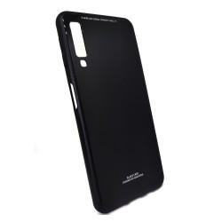 Funda Cristal Templado para Samsung Galaxy A7 2018 Color Negra Glass