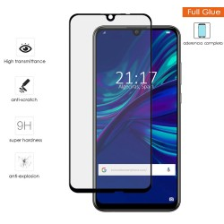 Protector Cristal Templado Completo 5D Full Glue Negro para Huawei P Smart 2019 / Honor 10 Lite Vidrio