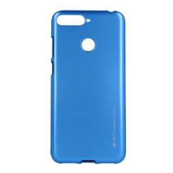 Funda Gel Tpu Mercury i-Jelly Metal para Huawei Honor 7A / Y6 2018 color Azul