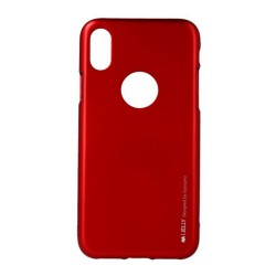 Funda Gel Tpu Mercury i-Jelly Metal para Iphone  X / Xs color Roja