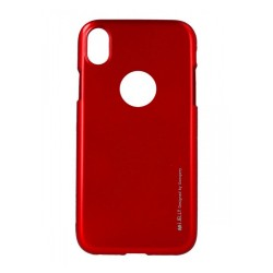 Funda Gel Tpu Mercury i-Jelly Metal para Iphone XR color Roja