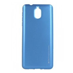 Funda Gel Tpu Mercury i-Jelly Metal para Nokia 3.1 color Azul