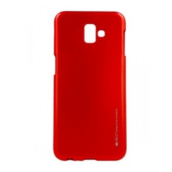 Funda Gel Tpu Mercury i-Jelly Metal para Samsung Galaxy J6+ Plus color Roja