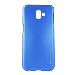 Funda Gel Tpu Mercury i-Jelly Metal para Samsung Galaxy J6+ Plus color Azul