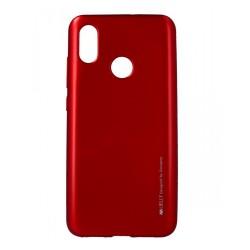 Funda Gel Tpu Mercury i-Jelly Metal para Xiaomi Mi 8 color Roja