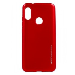 Funda Gel Tpu Mercury i-Jelly Metal para Xiaomi Redmi 6 Pro / Mi A2 Lite color Roja