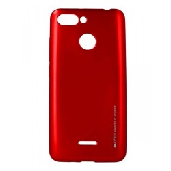 Funda Gel Tpu Mercury i-Jelly Metal para Xiaomi Redmi 6 color Roja