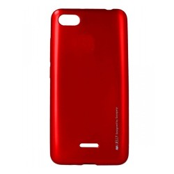 Funda Gel Tpu Mercury i-Jelly Metal para Xiaomi Redmi 6A color Roja