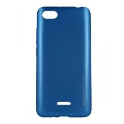 Funda Gel Tpu Mercury i-Jelly Metal para Xiaomi Redmi 6A color Azul