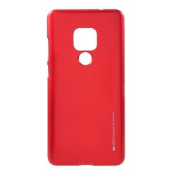 Funda Gel Tpu Mercury i-Jelly Metal para Huawei Mate 20 color Roja