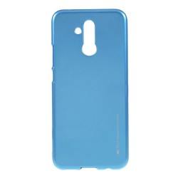 Funda Gel Tpu Mercury i-Jelly Metal para Huawei Mate 20 Lite color Azul