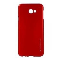 Funda Gel Tpu Mercury i-Jelly Metal para Samsung Galaxy J4+ Plus color Roja