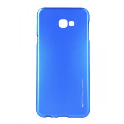 Funda Gel Tpu Mercury i-Jelly Metal para Samsung Galaxy J4+ Plus color Azul