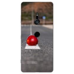 Funda Gel Tpu para Sony Xperia XZ3 Diseño Apple Dibujos