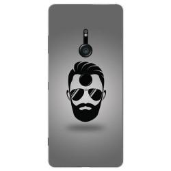 Funda Gel Tpu para Sony Xperia XZ3 Diseño Barba Dibujos
