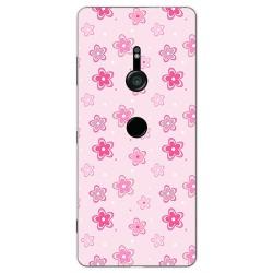 Funda Gel Tpu para Sony Xperia XZ3 Diseño Flores Dibujos