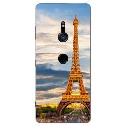 Funda Gel Tpu para Sony Xperia XZ3 Diseño Paris Dibujos