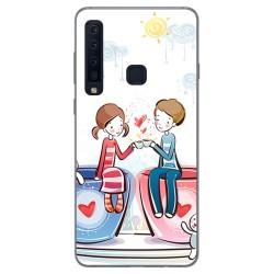 Funda Gel Tpu para Samsung Galaxy A9 (2018) Diseño Café Dibujos