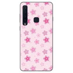Funda Gel Tpu para Samsung Galaxy A9 (2018) Diseño Flores Dibujos