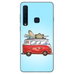 Funda Gel Tpu para Samsung Galaxy A9 (2018) Diseño Furgoneta Dibujos